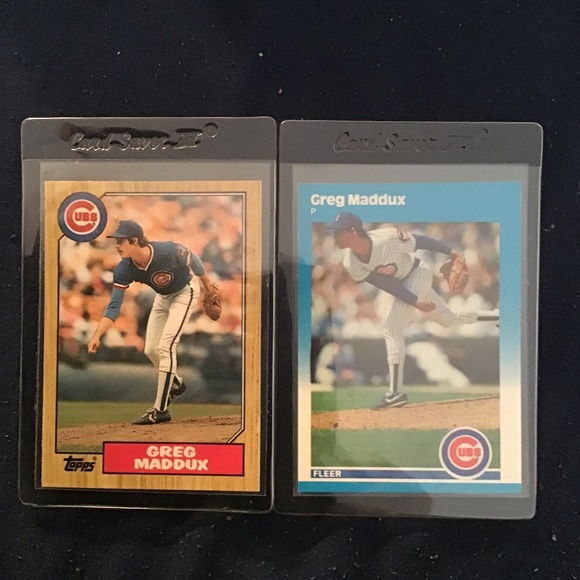 2 Greg Maddox Rookie Cards 1987 fleer /topps mint